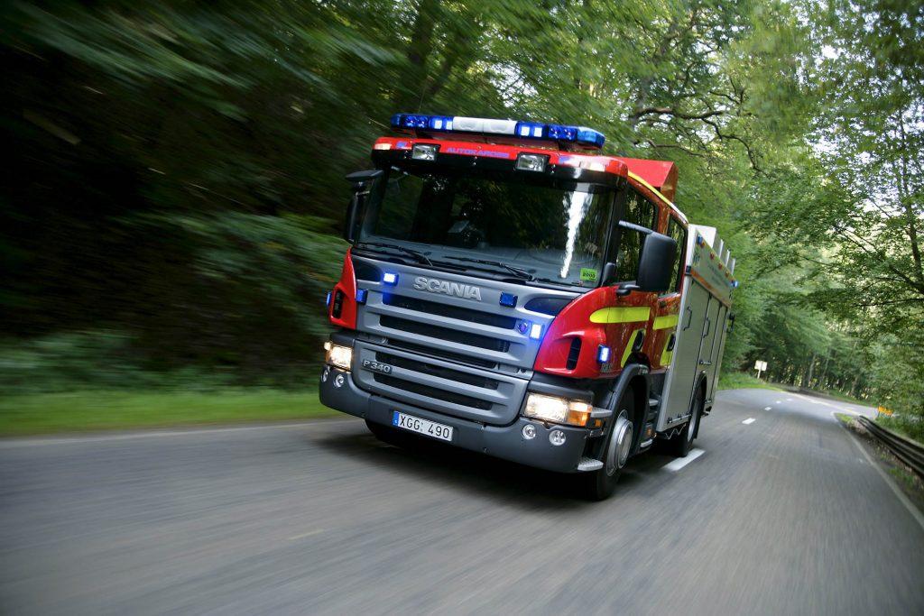 Scania P 340 4x2 CrewCab fire engine Euro 3. Belgium Photo: Carl-Erik Andersson 2005
