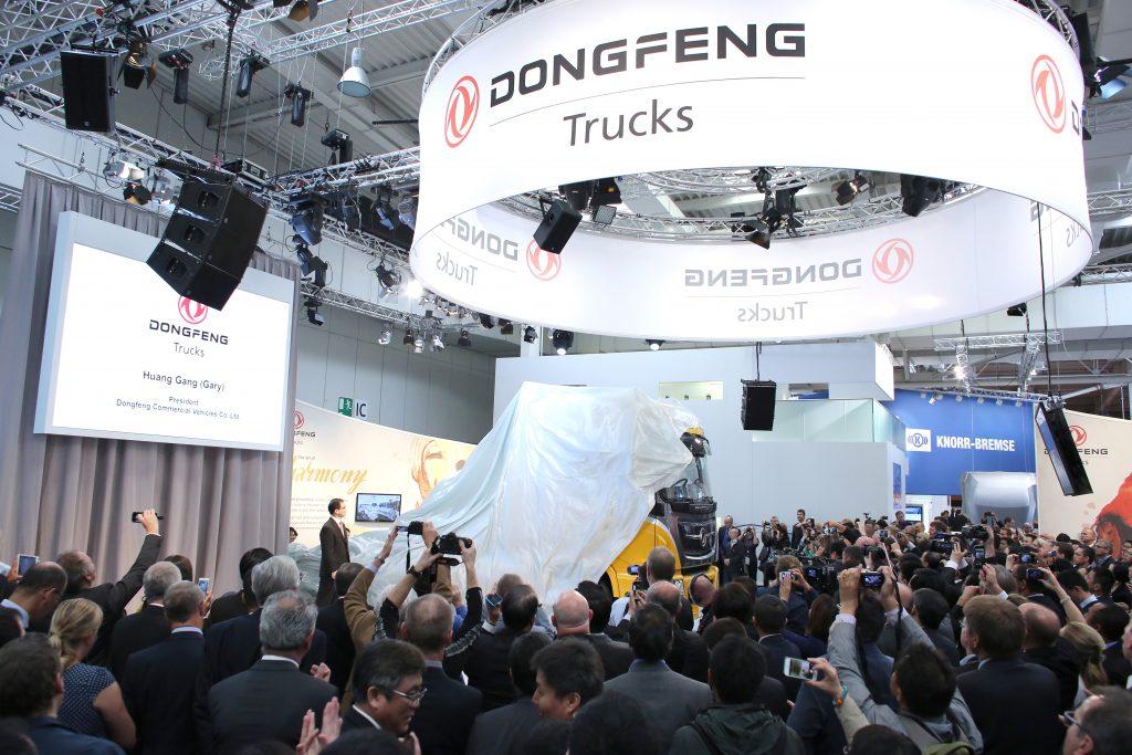 24.09.2014, Pressekonferenzen auf der 65. IAA Nutzfahrzeuge, im Bild die Pressekonferenz auf dem Stand von Dongfeng