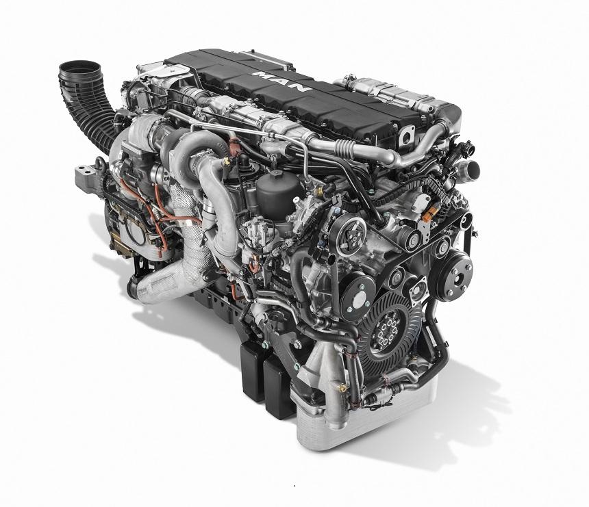 Motor MAN D3876 con seis cilindros e inyección de 15.2 litros se ofrecerá con 520, 560 o 640 CV. Con un máximo de 3000 Nm y disponible desde 930 rpm.
