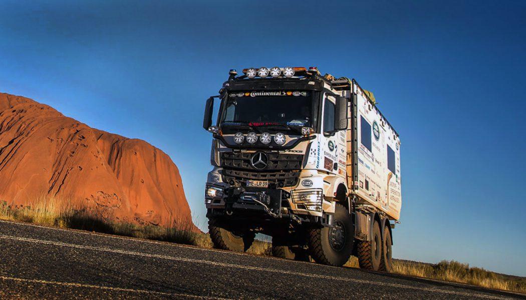 Por el desierto australiano con un Arocs
