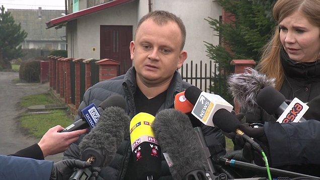 Ariel Żurawski. Primo del conductor del Scania asesinado en el atentado.