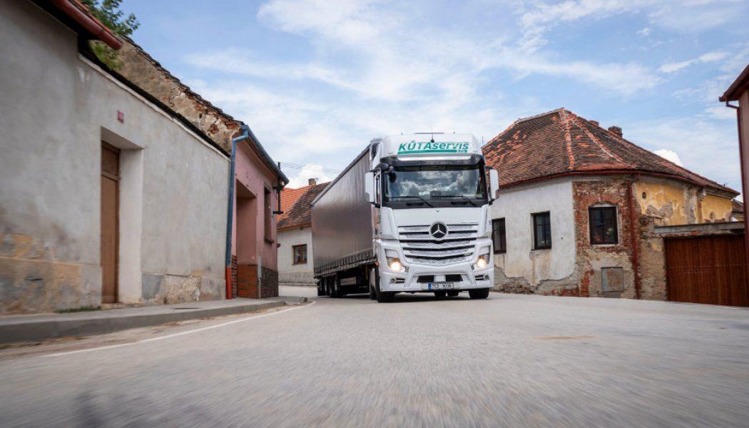En República Checa con Mercedes Trucks