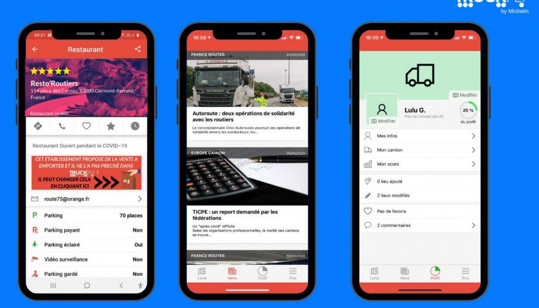 Michelin actualiza los datos de su aplicación TruckFly para ser más efectiva durante la pandemia