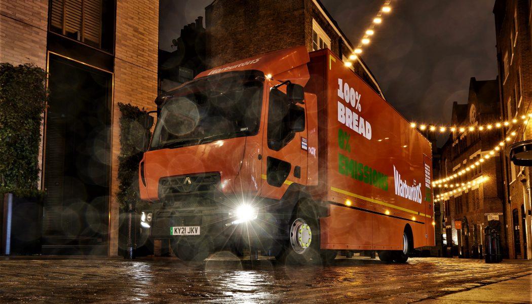 La compañía inglesa Warburtons adquiere un camión eléctrico Renault
